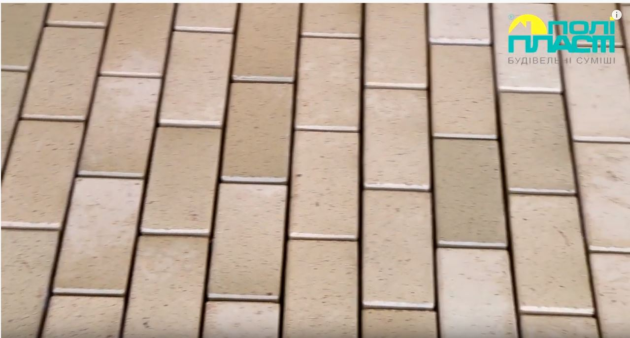Затирка швов уличной плитки, брусчатки ПДР-073